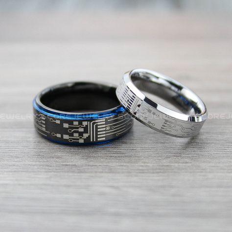 Circuit Board Ring, Circuit Ring, Geek Rings, Geek Jewelry