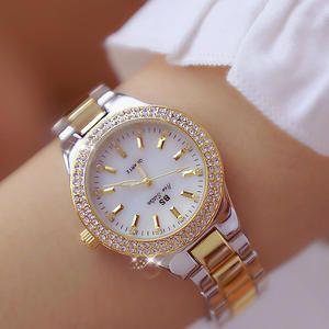 Reloj De Pulsera De Mujer De Cristal De Marca De Lujo 2018 Reloj De Moda De Cuarzo De Oro Rosa Relojes De Pulsera De Ac Joyeria De Lujo Relojes Elegantes Reloj