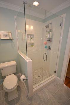 Creative Décor 39 Bathrooms With Half Walls Digsdigs