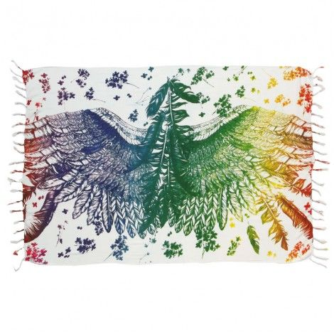 d0f6918c6 Canga asa rainbow c/franja | Para Mie | Home Decor, Home e Decor