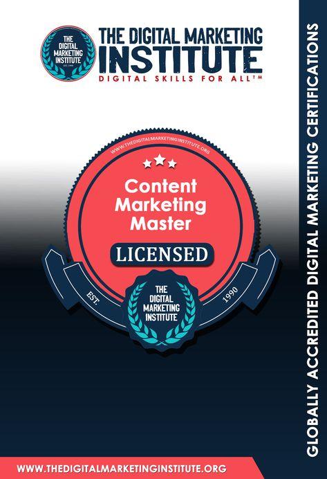 Content Marketing Master™ | THE DIGITAL MARKETING INSTITUTE ™