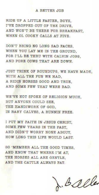 a cowboy dad poem In Memory Sunny Hancock Larry McWhorter Mason Coggin Don Tidwell .