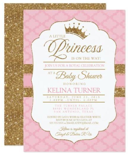 Royal Little Princess Pink Baby Shower Invitation Zazzle