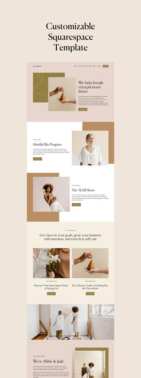 Foundress Squarespace Template - minimalist, web design