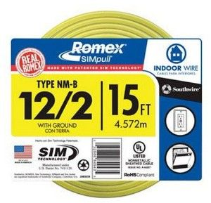 12 Gauge Romex Wire Electricity Electrical Wiring House Wiring