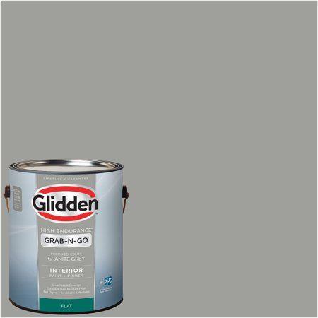 Glidden Pre Mixed Ready To Use Interior Paint And Primer Granite Grey 1 Gallon Walmart Com Interior Paint Glidden Gray Painted Walls