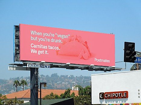 Postmates's OOH ads communicate its service and way of life—and how