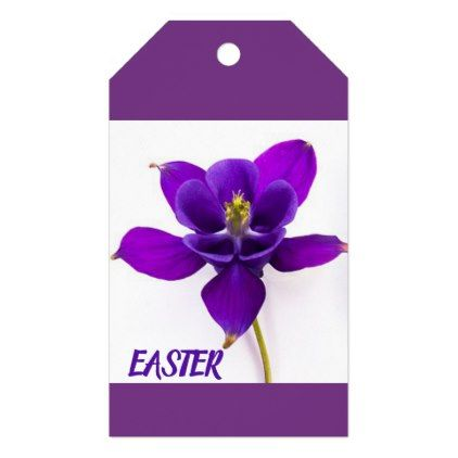 Purple Orchid Easter Gift Tag Purple Floral Style Gifts Flower Flowers Diy Customize Unique Floral Gifts Easter Gift Tag Purple Orchids
