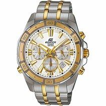 Casio Edifice Quartz Chronograph Date Two Tone Stainless Steel Watch# (Men Watch)