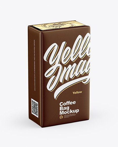 Download Matte Metallic Bag With Coffee Capsules Mockup 250g Coffee Bag Mockup In Bag Sack Mockups On Yellow Images Bag Mockup Metallic Bag Free Stationery