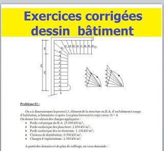 Exercices Corrigees Ofppt Pour Technicien Dessinateur De Batiment Modern Architecture Building Architecture Plan Architecture Building