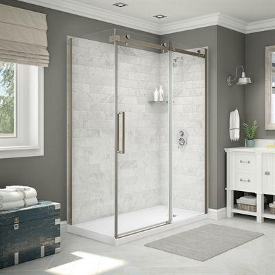 Maax Shower Stalls Enclosure Utile Corner Shower In Carrara