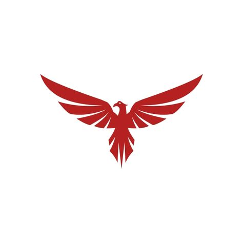 Falcon Eagle Bird Logo Template Vector Icon Phoenix Clipart Logo Icons Bird Icons Png And Vector With Transparent Background For Free Download Bird Logos Eagle Bird Eagle Vector