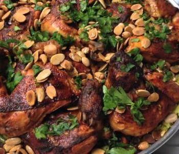اكلات شتوية سورية طريقة عمل الأوزي بالفراخ والمكسرات Braised Chicken Thighs Cajun Cuisine Recipes