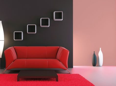 Black white and red combination in interiors | Space to live, Space ...