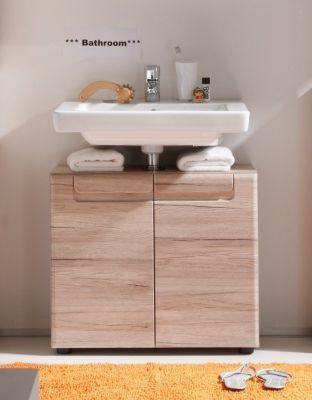 Bad Waschbecken Unterschrank Malea Siena Eiche San Remo Badezimmer