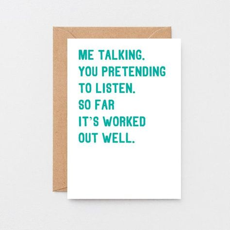 Funny Anniversary Card For Husband | Funny Birthday Card For Wife | Funny Card For Partner | Birthday Card For Boyfriend | SE2044A6