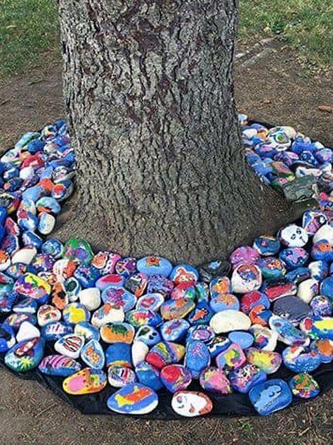 FREE Rock Flower Garden Projects