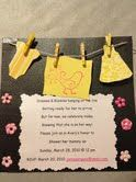 Clothes Line Baby Shower invitation!!