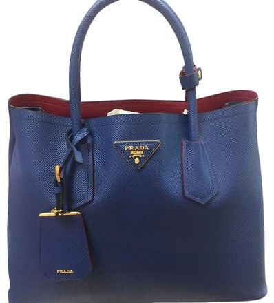 9ca03daef117 Prada Saffiano Cuir Leather Tote Double Leather Handle Navy Cross Body Bag  on Sale, 25% Off | Cross Body Bags on Sale