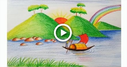 Pin By Haya Nami On Painting Scenery Drawing For Kids