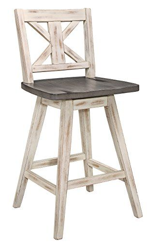 Homelegance Amsonia Counter Height Swivel Stool 2 Pack White Stools For Kitchen Island Cool Bar Stools Wood Bar Stools