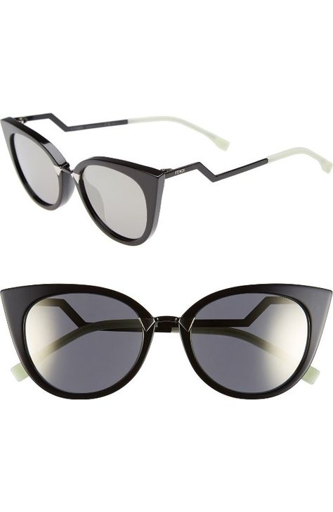 ca86ab827a96 Free shipping and returns on Fendi 55mm Gradient Lens Cat Eye Sunglasses at  Nordstrom.com. Bold half frames enhance the impeccable style of  retro-inspired ...