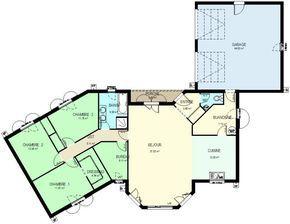 Surface Habitable 120m Surface Sejour 37 85 M Surface Cuisine 12 25 M Surface Buanderie 7 70 Avec Images Plan Maison 120m2 Plan Maison 100m2 Plan Maison 3 Chambres