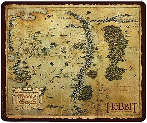 Abystyle Abyacc170 Mousepad Der Hobbit Mittelerde Mehrfarbig