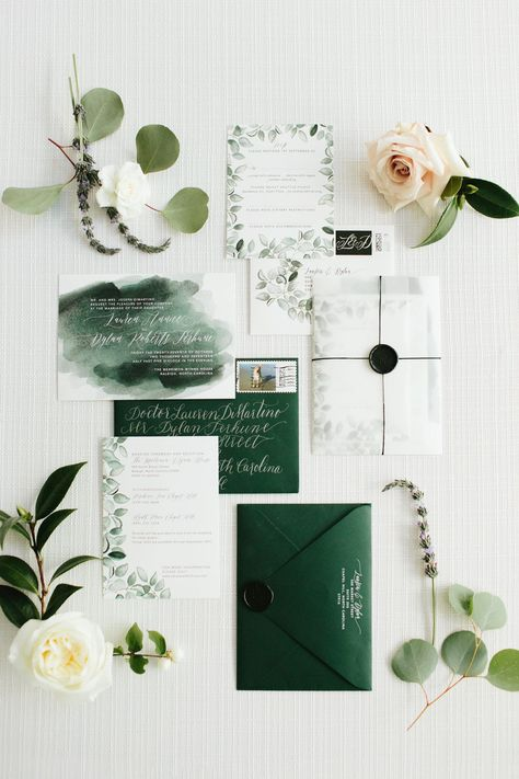 Loved seeing this green foliage watercolor wedding invitation suite and beautifu. Loved seeing this green foliage watercolor wedding invitation suite and beautifu. Country Wedding Invitations, Wedding Invitation Design, Wedding Stationary, Beautiful Wedding Invitations, Bohemian Wedding Stationery, Watercolor Wedding Invitations, Diy Invitations, Invitation Cards, Invitation Wording