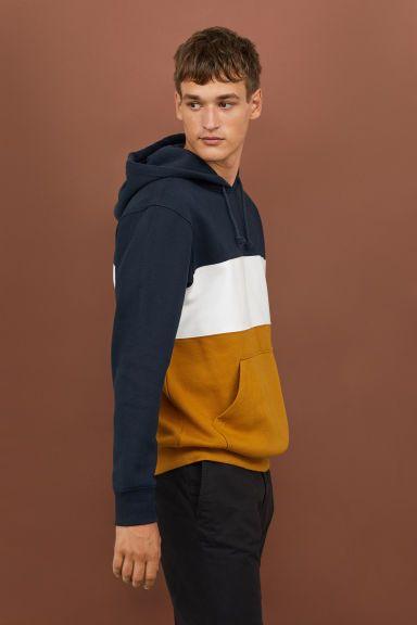 611eabd551 Color-block Hooded Sweatshirt   Fashion   Hooded sweatshirts ...