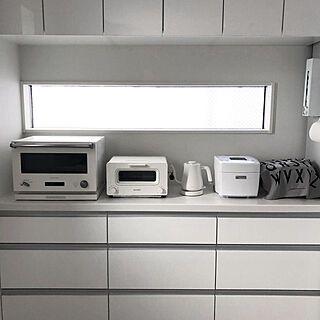 キッチン クードゴミ箱 カップボード Lixil ライトグレイン などのインテリア実例 2018 09 21 14 16 31 Roomclip ルームクリップ 模様替え バルミューダ ケトル インテリア