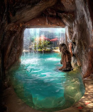 Cool Pools With Caves Google Search Ideas For Home And Garden Pinterest  Caves Backyard And House