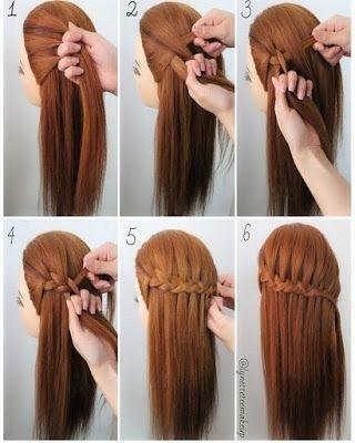 24 Populer Easy Waterfall Hairstyle Step By Step In 2020 Medium Hair Styles Hair Styles Easy Braids