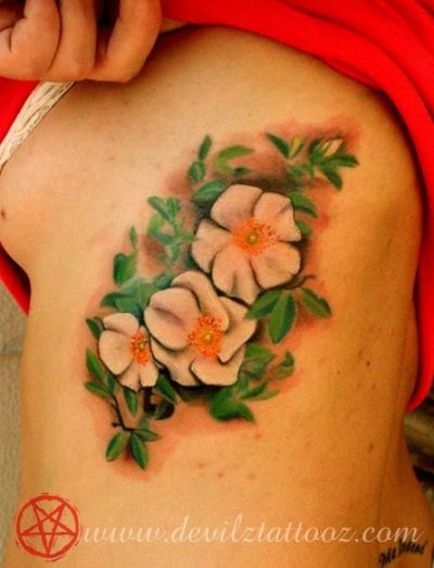 Cherokee Rose Tattoo : cherokee, tattoo, Cherokee, Tattoo, Tattoos,, Flower, Colors