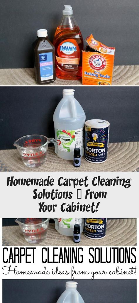 Homemade carpet cleaning solutions that you can find in your cabinet! Most are a...  Homemade carpet cleaning solutions that you can find in your cabinet! Most are all natural! #carpet #cabinet #Carpet #Cleaning #Find #Homemade #Solutions