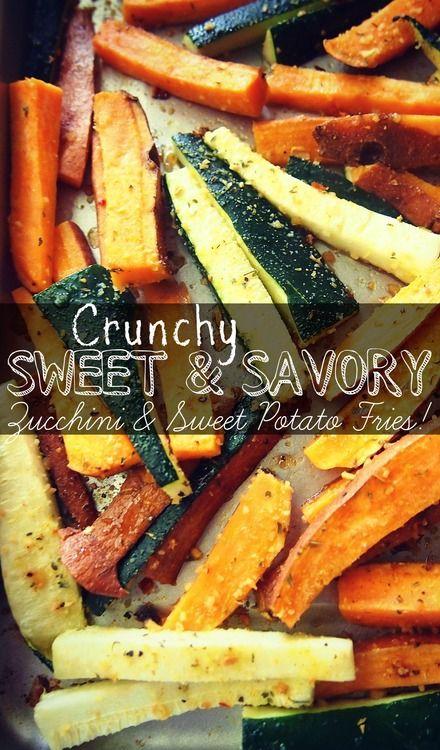 sweet potato and zucchini fries