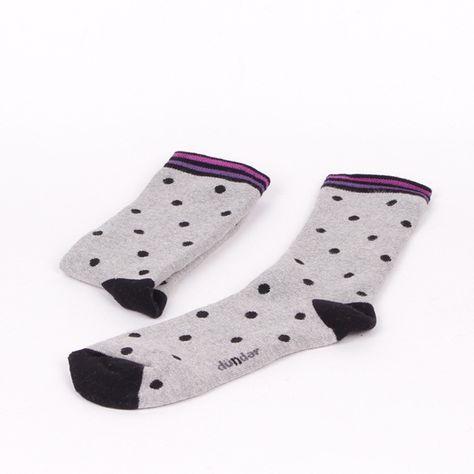 9e35d893cf5 Дамски термо чорапи в светло сив цвят на черни точки, на пръстите и петите  също