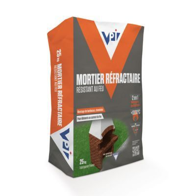 Mortier Refractaire Vpi 25kg En 2020 Mortier Et Castorama