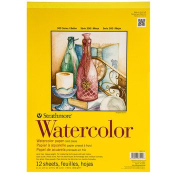 Strathmore 300 Series Watercolor Paper Pad 11 X 15