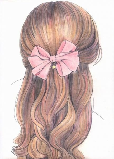 Drawing Of Girls From The Back Hair 32 Ideas Pretty Drawings How To Draw Hair Girl Hair Drawing