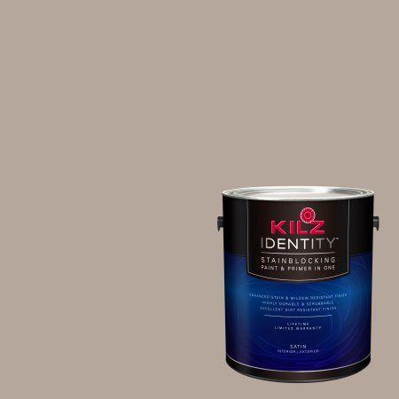 Kilz Identity Interior Exterior Stainblocking Paint Primer In One Ll240 Coffee House 1 Gallon Brown Kilz Paint Primer Gallon