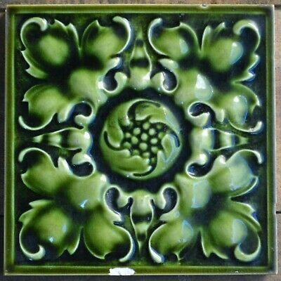 Antique Pilkington S England Art Nouveau Majolica Tile C1900 Ebay In 2020 Art Nouveau Clay Wall Art Art Nouveau Tiles