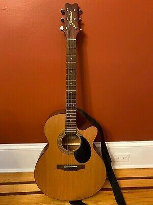 Jasmine S34c Acoustic Guitar No Blemishes Strap And Guitar Acoustic Acoustic Guitar