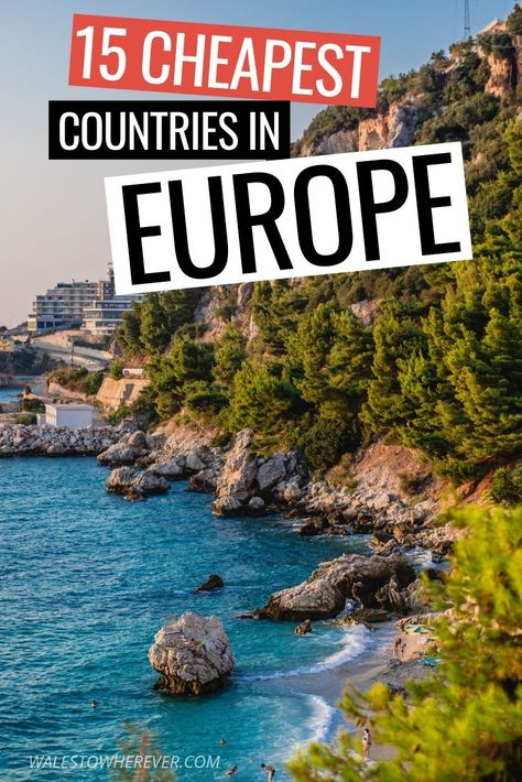 Avoid the crowds AND the credit card limits in Europe by visiting some of these lesser frequented, more affordable countries. Have you ever considered a summer holiday in Albania? Montenegro? Hungary? Click through to find out what other countries made the list of cheapest destinations in Europe. #TravelTips #EuropeTravel #BudgetTravel