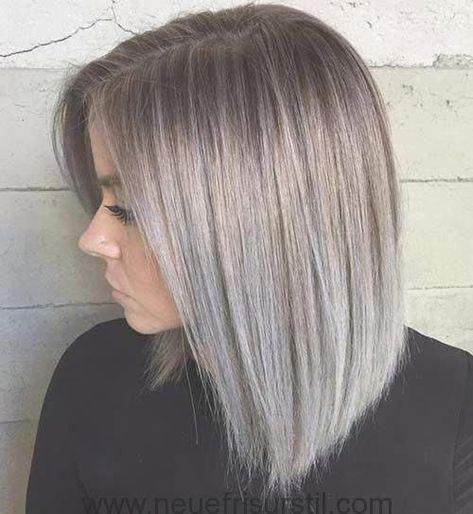Kurze Silber Ombre Haarfarbe Guggis Make Uphaare Und
