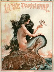 Mermaid Art - 1920s France La Vie Parisienne Magazine by The Advertising Archives