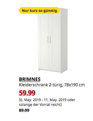Ikea Hamburg Moorfleet Brimnes Kleiderschrank 2 Turig Weiss
