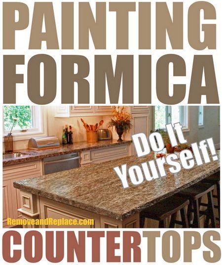 Perfect Painting Formica Countertops The Easy DIY Ways | DIY   Tips Tricks Ideas  Repair | Pinterest | Painting Formica Countertops, Painting Formica And  Formica ...