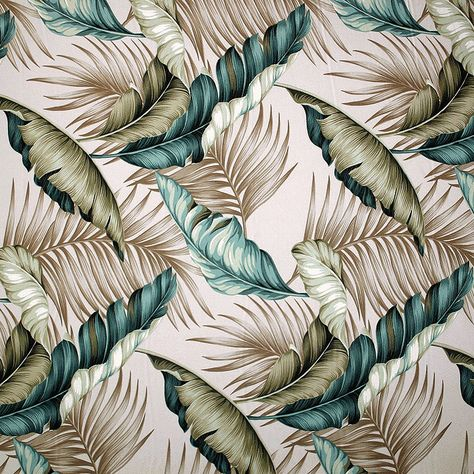 Tropical pillow with bold palm and banana leaf design by Polynesian Designs - Tropical Pillow Bahama Breeze raffia, $44.00 (http://www.polynesiandesigns.com/tropical-pillow-bahama-breeze-raffia/)